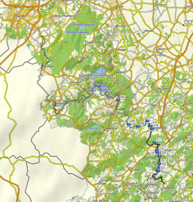 De Wandel Website Van Fred Triep Gps Kaart Van De Gelopen Route